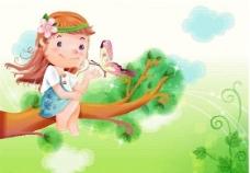 漫画儿童 卡通儿童 矢量 EPS格式 296