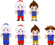 卡通儿童吉祥物图片