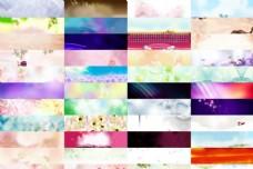 44款淘宝绚丽时尚的广告背景图片素材