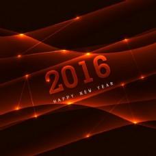 新的2016年闪亮的卡片