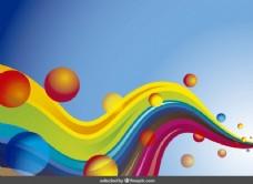 背景彩色波