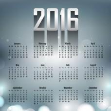 2016日历上的背景虚化背景