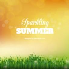 闪闪发光的夏天的背景