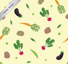 蔬菜无缝背景