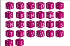 立方体字母图片