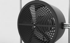 创意黑色小巧的台扇风扇jpg素材
