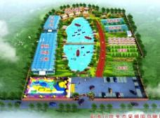 卧龙山庄生态园鸟瞰图图片