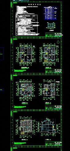 别墅施工图CAD图纸