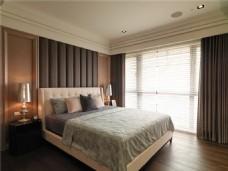 暖色简洁卧室效果图