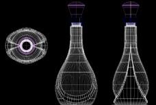 新瓶型3D模型CAD线稿图
