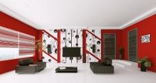 个性圆环电视墙客厅