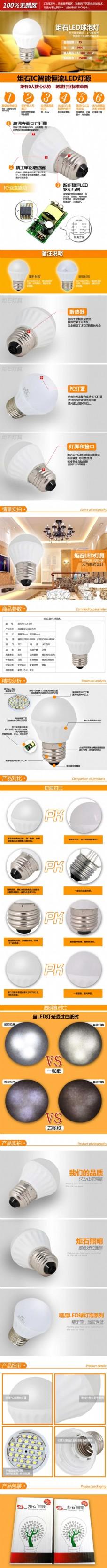 炬石IC智能恒流LED灯源-灯具描述