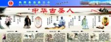 中华古圣人展板图片