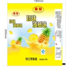 菠萝冰棒包装袋设计图片