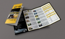 汽车服务四折页设计智能贴图