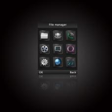 金属质感主题界面UI设计图片