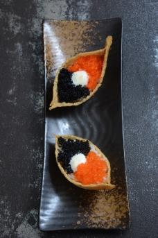 腐皮寿司 双色蟹籽图片