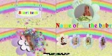 彩虹粒子儿童卡通AE相册模板AE模板