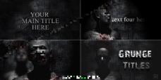 黑色恐怖主题AE模板