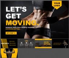 运动塑身健身减肥主题PPT模板
