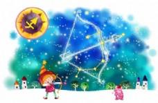 星座卡通图案 分层PSD_20