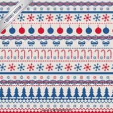 红色和蓝色的圣诞图案