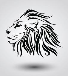 狮子头纹身图案