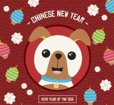 中国扁平狗年素材