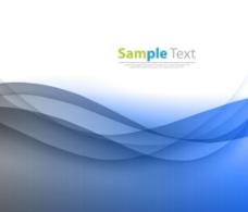 蓝色光滑波背景图片