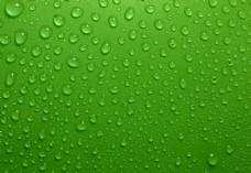 绿色背景上的水珠高清摄影图片
