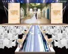 香槟色婚礼背景