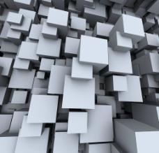 白色3D空间背景图片
