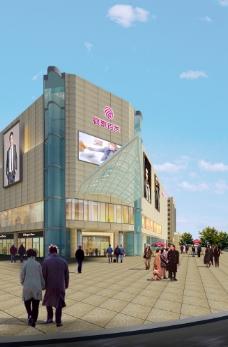 银泰商城效果图图片