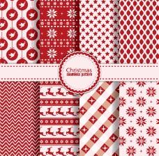 红色系圣诞图案背景矢量素材