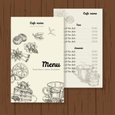 手绘茶餐厅菜单