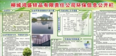 鸿盛锌品公司环保信息栏图片