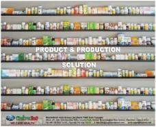保健品瓶子展架背景
