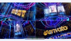 时尚绚烂的灯光舞台宣传展示AE模板