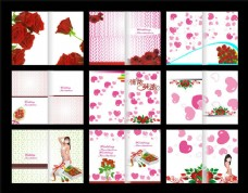 美女画册封面设计矢量素材