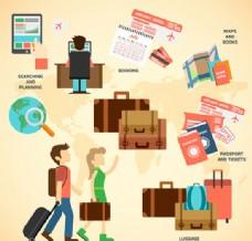 旅行信息图矢量图片 AI