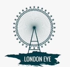 伦敦地标伦敦眼矢量