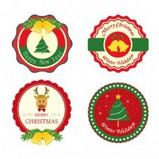 圣诞节标签元素设计