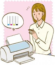 印表機墨水過少提示