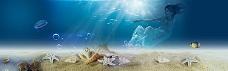 蓝色海洋淘宝背景