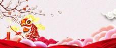 传统春节年味几何中国风广告背景