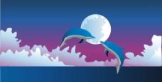 海豚背景图