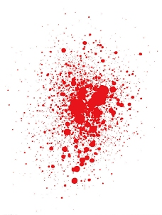 红色喷溅背景图片