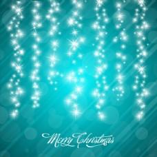 星星的花环圣诞背景