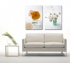 花卉无框画家居挂画客厅无框画