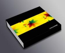 黑色礼盒包装设计(平面图)图片